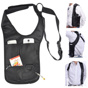 Hidden Underarm Security Shoulder Holster Cross Strap On Anti-Theft Bag Wallet