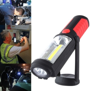 High Quality 5W COB+LED Magnetic Hand Torch Lamp Work Inspection Light Flexible Rechargeable