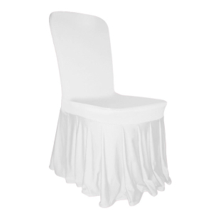 White Skirt Chair Covers Spandex Lycra Wedding Banquet Anniversary Party Decor