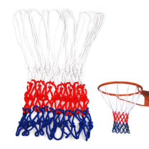Standard 12 Hoop Durable Nylon Basketball Goal Hoop Net Red White Blue Sports
