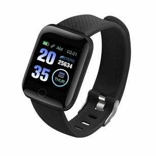 Bluetooth Heart Rate Blood Pressure Fitness Tracker Smart Watch