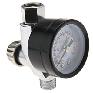 "High Quality 1/4"" HVLP Compressor Spray GunAir Regulator Gauge Adjustable Mini Paint Dial"