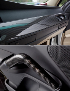 High Quality 5 Diagonal Carbon Fibre Vinyl Wrap Sheet Film Sticker Car Wrap Stickers