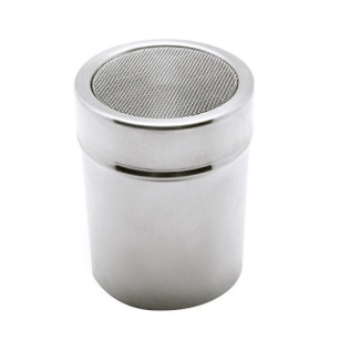 Stainless Steel Chocolate Shaker Icing Cocoa Flour Sugar Cappuccino Sifter & Lid