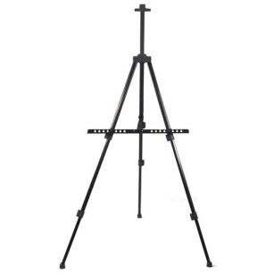 Telescopic Field Studio Painting Easel Tripod Display Stand with Case