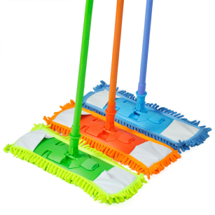 Extendable Microfibre Floor Mop Cleaner Sweeper Wooden Laminate Tile Wet Dry