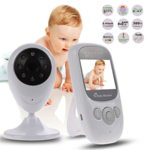 "High Quality 2.4"" LCD Screen Wireless Digital Video Baby Monitor 2.4GHz Camera Kit"