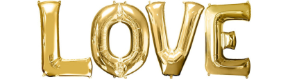 "Large 40"" LOVE Letters Balloons Tall Gold Foil Wedding Party Favor Decorations"