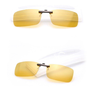 Polarized Clip On Sunglasses Driving Glasses Day Night Vision Lens UV400