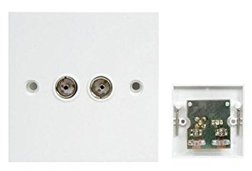 Flush Mount Twin Coaxial Aerial Socket Tv Part