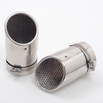 High Quality 2 Pieces Stainless Steel Tip Pipe Exhaust Tail Fit VW CC EOS 06-12 PASSAT B6