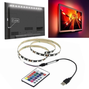 1M LED Strip Light Lighting Kit with USB Remote Controller