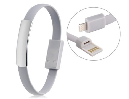 competitive price 8ee35 0e678 Bracelet Short USB Cable for iPhone 6 5S 7 6S iPad 4 Mini Charger Data Cord