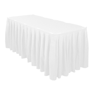 High Quality Rectangle Top Table Skirt Pleated Covers Tablecloths for Wedding Party Hotel Bar Restaurant