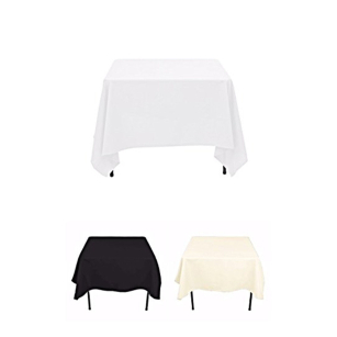 High Quality Square Top Table Skirt Pleated Covers Tablecloths for Wedding Party Hotel Bar Restaurant