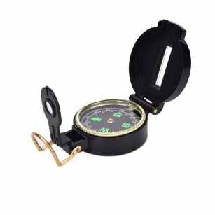 Lensatic Compass Military Camping Hiking Army Style Survival Equipment