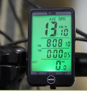 Bicycle Bike LCD Computer Odometer Speedometer With Backlight