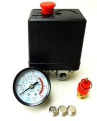 Super 131MM Single Phase Compressor Pressure Switch w/Air Valve & Gauge & Regulator