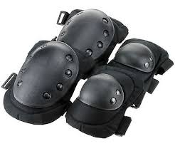 Super Tactical Military Army Elbow & Knee Pads Airsoft Paintball Skate Equipment Set