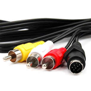 S-Video to 3 RCA TV Male Cable Lead For Laptop PC Audio Computer