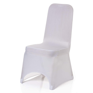 100 x White Colour Lycra Chair Covers for Wedding Banquet Party Decor Home Bar Restaurant Hotel