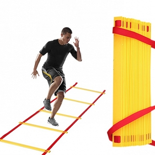 8 Rung Football Running Speed Ladder Agility Soccer Training Equipment Sport Kit