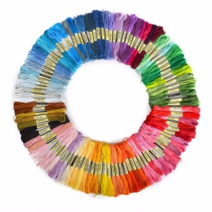 50 x Cotton Embroidery Thread Cross Stitch Floss Sewing Skeins