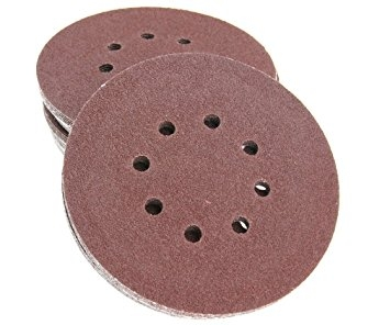 "Great 100pcs 125mm - 5"" Sanding Discs 40 60 80 120 240 Mixed Grit Orbital Sander Pads"
