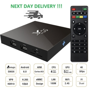 X96 ANDROID SMART TV BOX 2GB RAM 4K MEDIA PLAYER