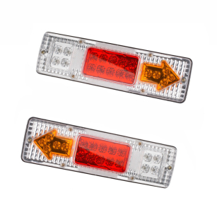 Brand New 2 x 19 LED Truck Stop Rear Light Trailler Van Tail Indicator Lamp 12v