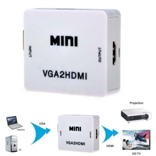 VGA To HDMI Video Converter Adapter Box for Computer Laptop TV Monitor