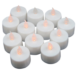 New 12 x LED Flickering Battery Operated Tea Light Candles Tealight Charm Safe