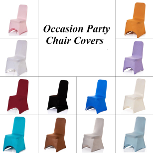 High Quality Lycra Chair Covers for Wedding Banquet Party Decor Bar Restaurant Hotel Decor