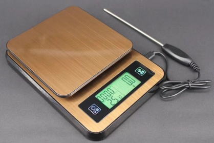 Wooden Style Digital LCD Electronic Kitchen Cooking Food Scale