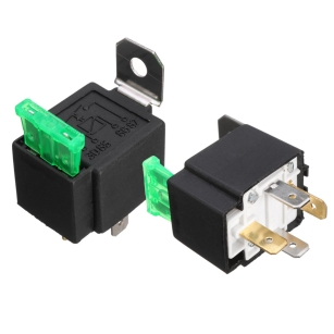 High Quality 2 X 12V Car Fused 30A Relay ON/OFF Spotlamps FOG Light Lamp Spot