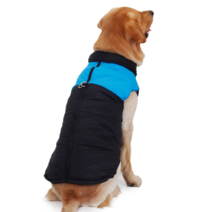 Waterproof Winter Warm Dog Cloth Padded Coat Pet Vest Jacket
